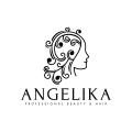 安潔莉卡專業美容Logo
