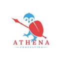 雅典娜的貓頭鷹諮詢Logo