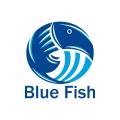 藍色的魚logo