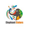 大象的顏色Logo