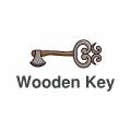 wooden key  logo