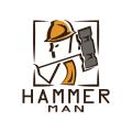Hammer Man  logo