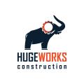 Huge Works Construction  logo