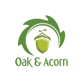 橡樹和橡實Logo