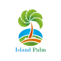 Island Palm  logo