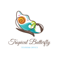 Tropical Butterfly  logo