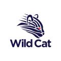 野生的貓Logo