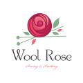 Wool Rose  logo
