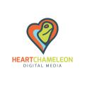 Heart Chameleon  logo