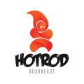 Hotrod - road beast  logo