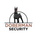 杜賓犬的安全Logo