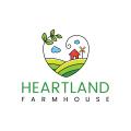 中心地帶的農家Logo