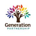 生態意識生態社區團體發行的高級心理咨詢治療的組織基礎教育輔導學習型學校園藝師治療師治療診所營養師康復Logo