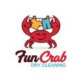 Fun Crab Dry Cleaning  logo