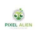 Pixel Alien  logo