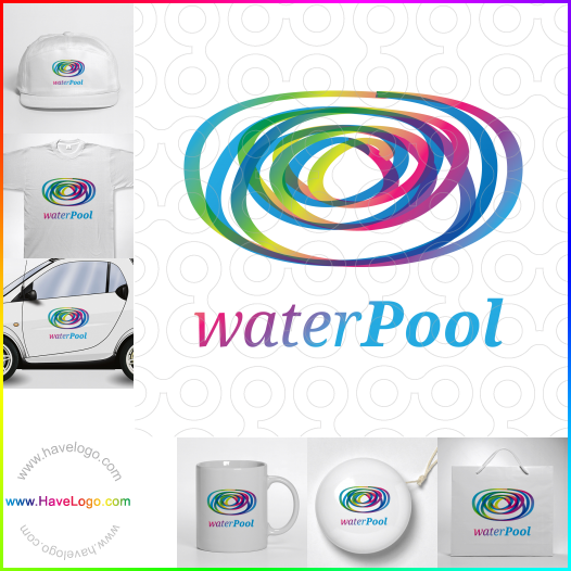 遊泳池logo設計 - ID:35468