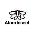 Atom Insect  logo
