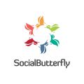 Social Butterfly  logo