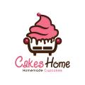 家庭自製的蛋糕蛋糕Logo