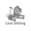 Lion Sitting  logo