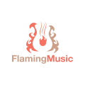 Flaming Music  logo