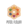 Pencil Flower  logo