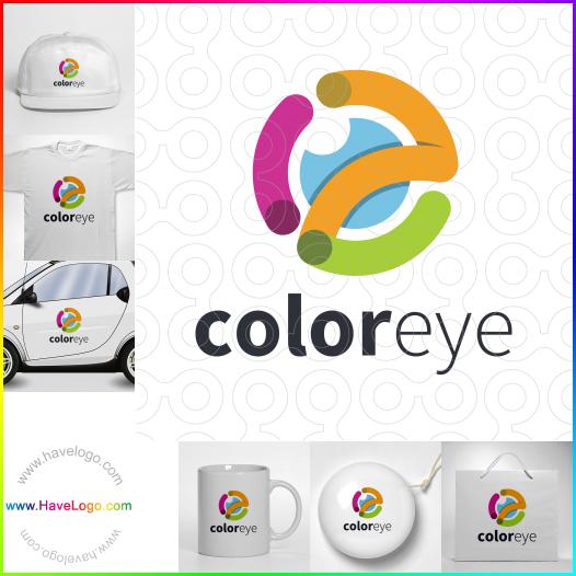 眼睛的顏色logo設計 - ID:65570