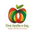 healthy food product logo