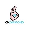 Ok Diamond  logo