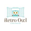 Retro Owl  logo